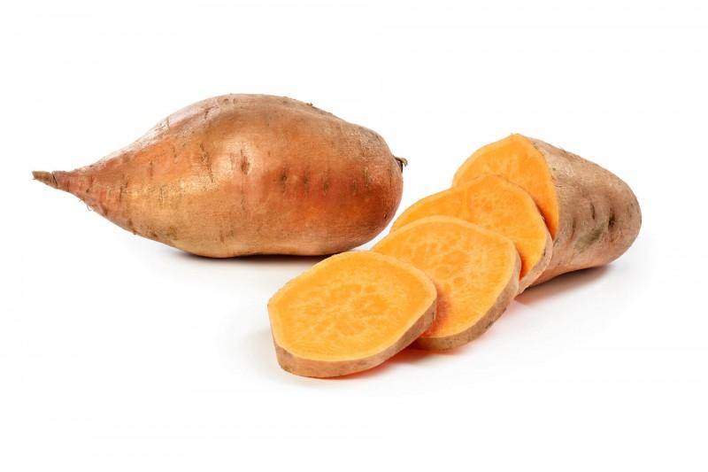 op home zoete aardappel